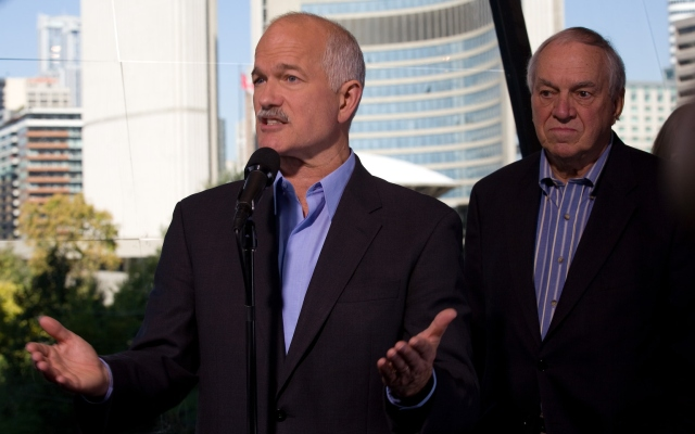 Jack Layton and Ed Broadbent.