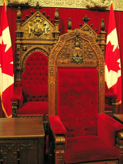 The Governor General's throne