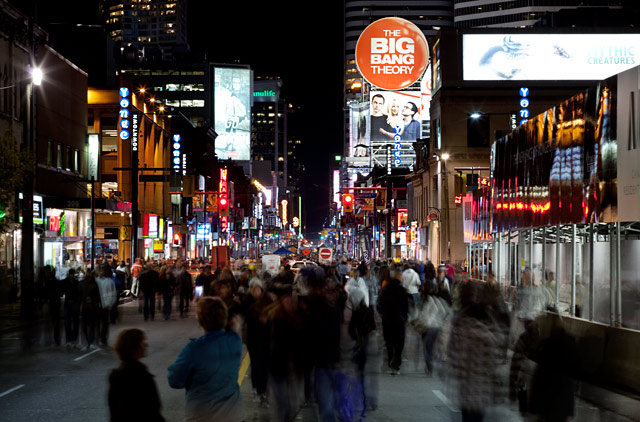 WHAT: YONGE STREET, CLOSED TO CAR TRAFFIC FOR THE NIGHT WHERE: ZONE A