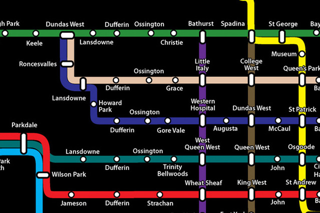 Toronto Subway Map.The Ttc Map Of The Future Today