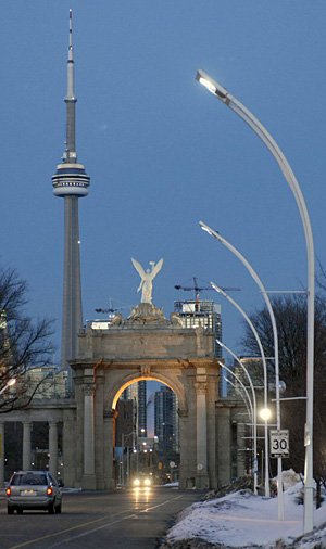 LED streetlights at Exhibition Place