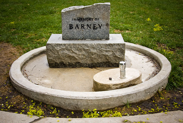 Norman Jewison's memorial to his dog, Barney (Photo by Marc Lostracco)