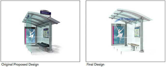 Toronto's new street furniture: Bus shelters