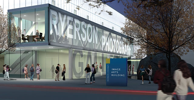 The new public gallery will open into Ryerson's charming Devonian Square.
