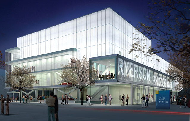 A Diamond + Schmitt rendering of Ryerson's new Image Arts Building renovation