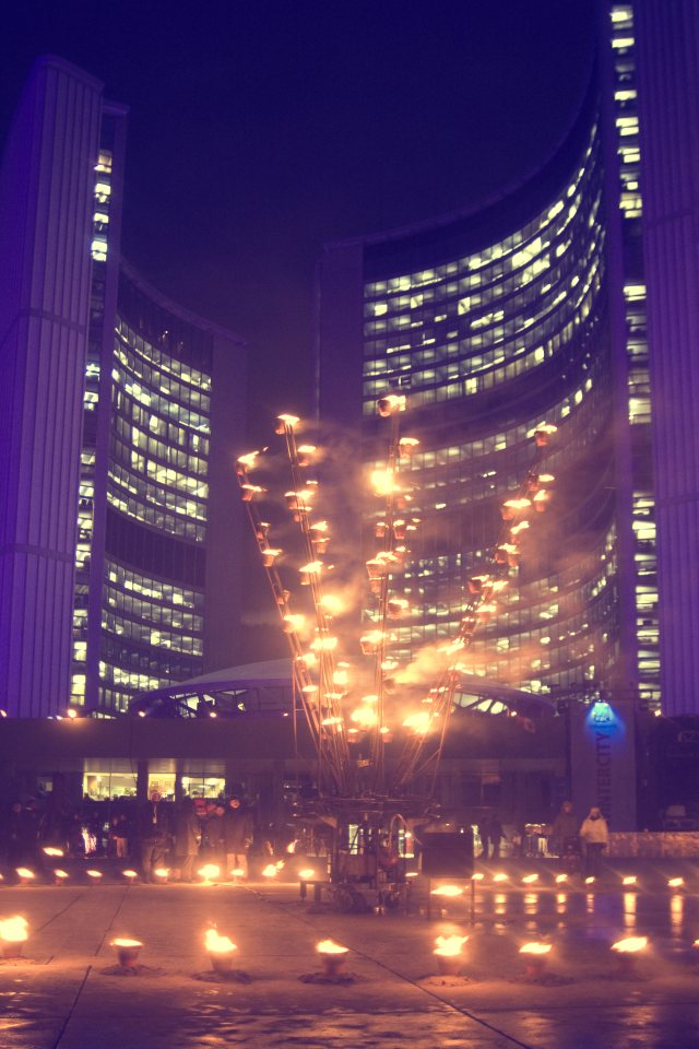 Nights of Fire in Nathan Phillips Square by Miles Storey