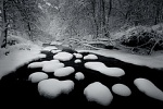 New Snow, Taylor Creek by peter bowers title=