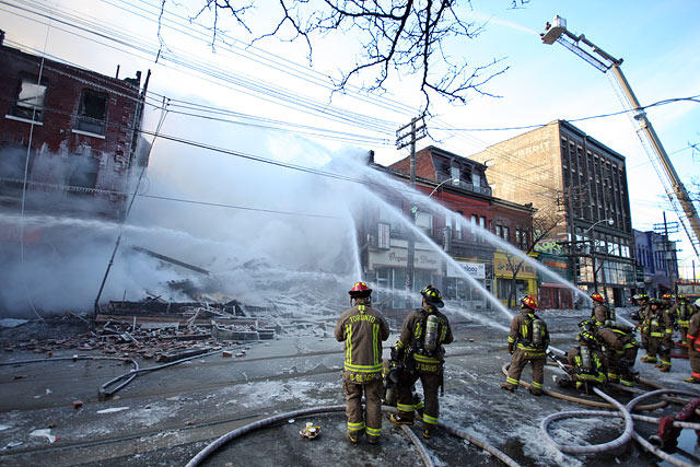 Queen Street Fire by Miles Storey