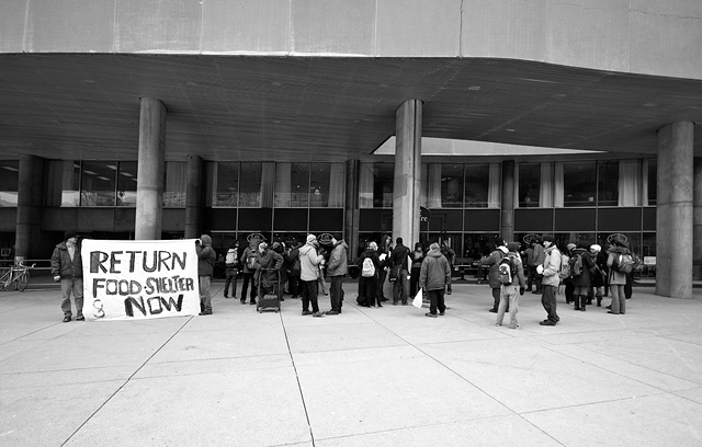 OCAP City Hall Protest by Miles Storey