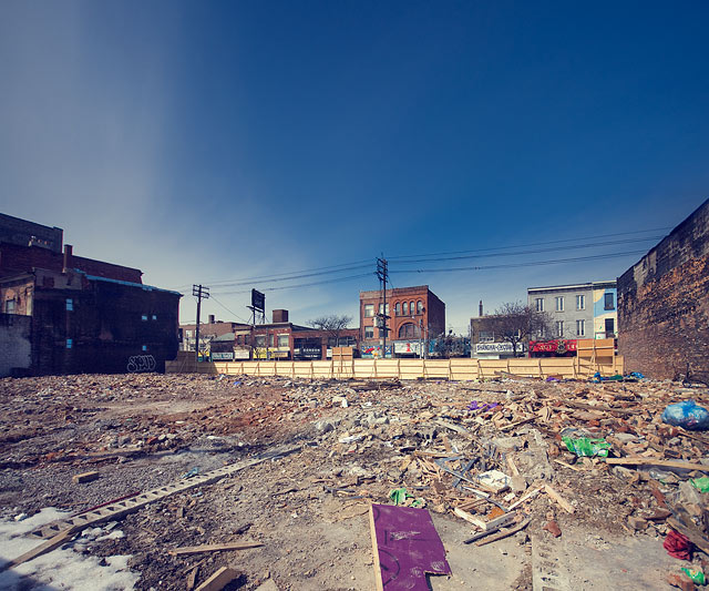 Queen St West Fire Aftermath by Miles Storey