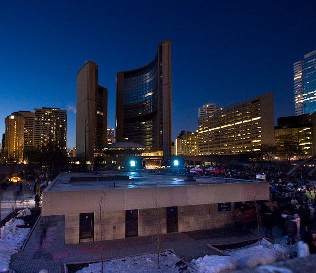 Earth Hour at Nathan Phillips Square by Miles Storey