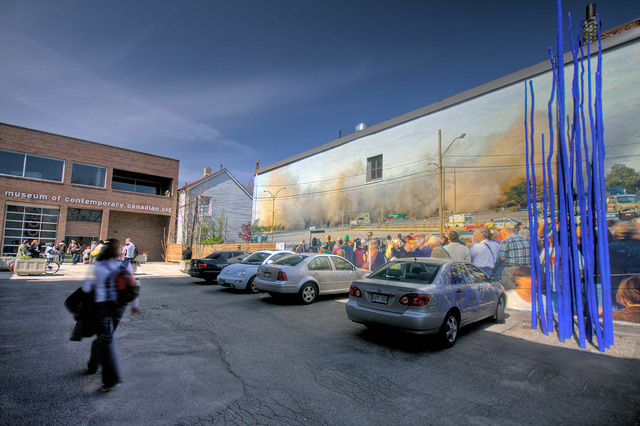 Robert Burley's Mural, Implosion of Building by Miles Storey