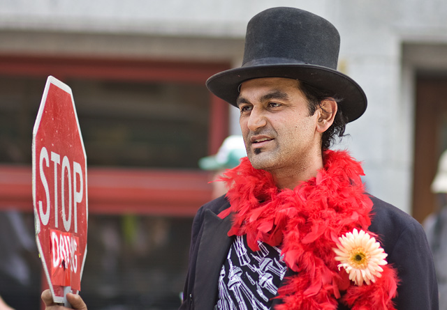 Amlani at Reclaim Earth Day parade by Miles Storey