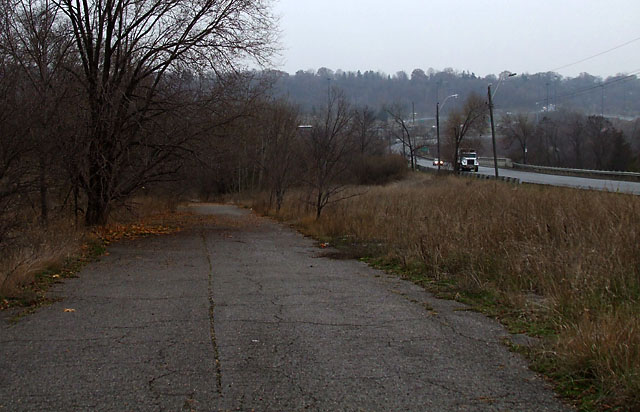 Looking south down Old Don Mills Road