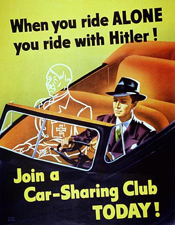 Ride with Hitler propaganda poster