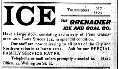 Advertisement from the Mail and Empire; June 1, 1898