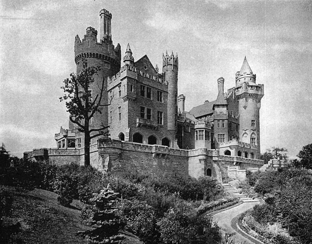Casa Loma, southern exposure with garden in foreground  Casa Loma: Canada's Famous Castle (Toronto: Kiwanis Club, 1938)