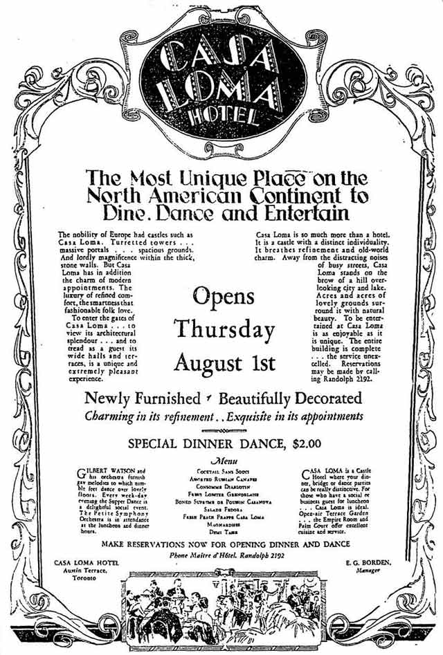 Advertisement, the Globe, July 29, 1929