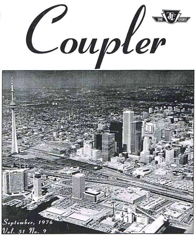 Toronto's skyline following the opening of the CN Tower. The Coupler, September 1976.