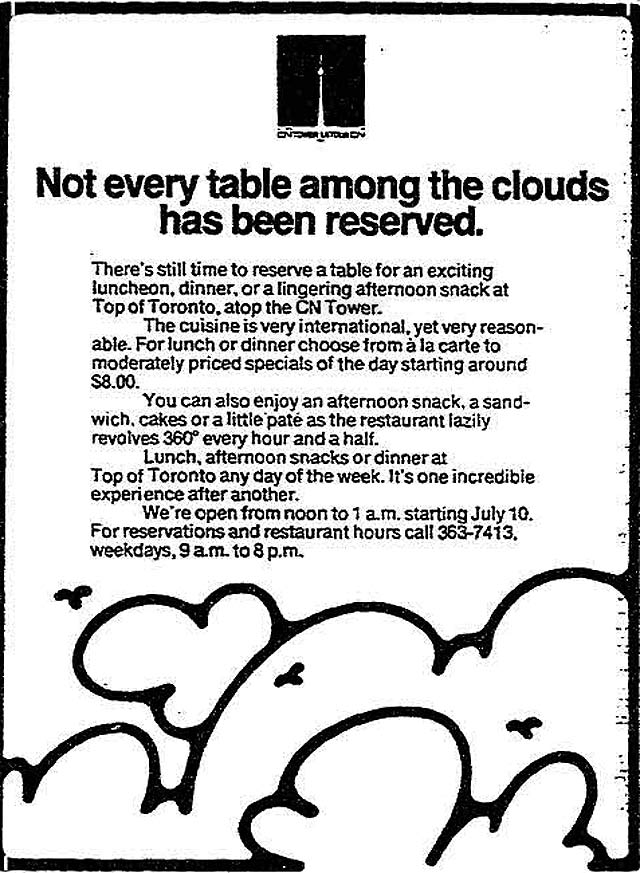 Advertisement, the Toronto Star, June 9, 1976.
