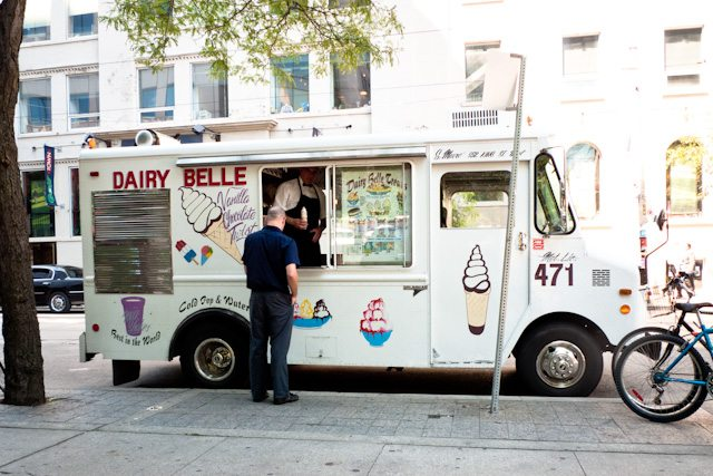 How to write an essay of about an ice cream man comes daily to my school?