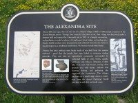 "Historical plaque for {a href=""http://www.heritagetoronto.org/news/story/2008/11/27/alexandra-site""}the Alexandra site{/a} in Scarborough. Photo from {a href=""http://torontohistory.org/""}torontohistory.org{/a}."