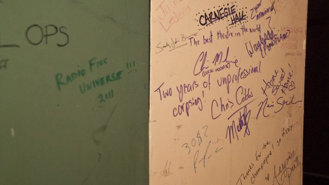 More backstage grafitti, including The Carnegie Hall Show cast and guests.