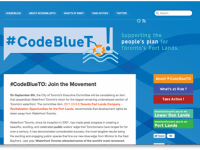 A screenshot of the CodeBlueTO website, as it appeared earlier this afternoon.