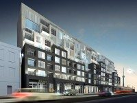 Bathurst Street view of B.streets condos. Image courtesy of Lindvest Properties.