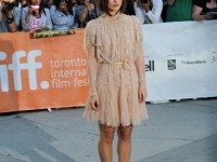 Keira Knightley arrives at Roy Thomson Hall for the gala screening of A Dangerous Method.