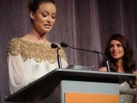 Olivia Wilde reading Harvey Weinstein's statement at the premiere of Butter.