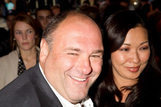 James Gandolfini arrives for the gala for Violet & Daisy, last night at the Elgin Theatre
