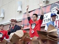 Ben Do at last year's Poutine-Eating Championships. Photo courtesy of Smoke's Poutinerie.