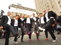 Walk a mile in her shoes, literally, to end violence against women. Photo courtesy of Christine Testa.