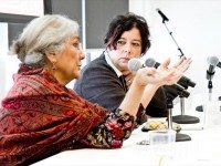 Alia Hogben (left) and Amanda Dale at the Roadmap 2030 last year. Photo from the Roadmap 2030 Facebook page.