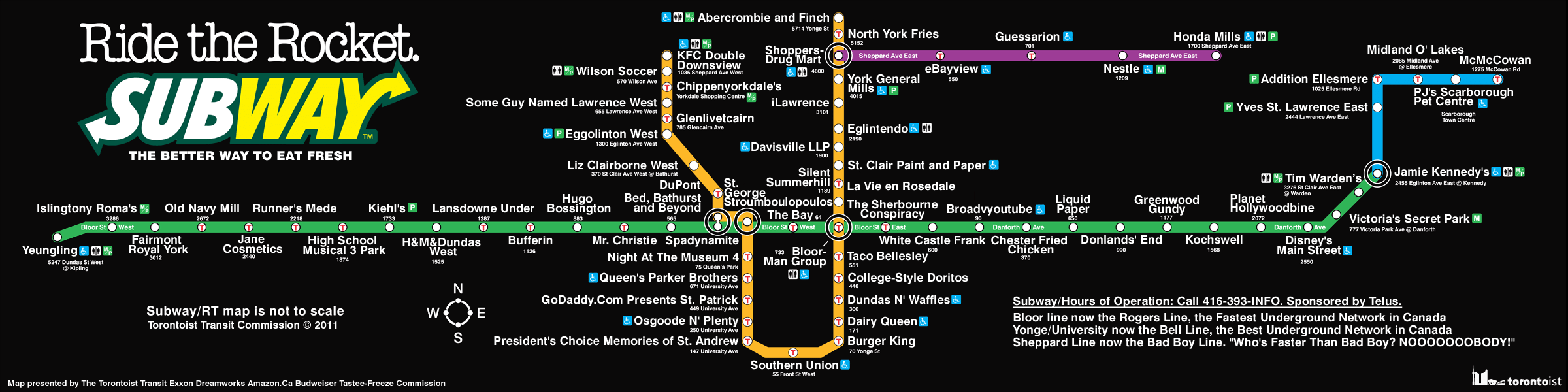 Toronto Map With Subway Stops