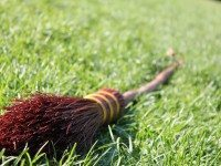 An officially approved broomstick from the International Quidditch Association.
