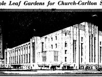 Sketch of Maple Leaf Gardens as it was first unveiled in the press. The Telegram, March 5, 1931.