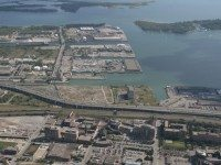 Aerial views of the Port Lands. Photos courtesy of Waterfront Toronto.