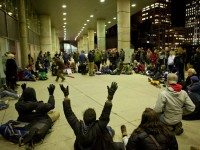 November 23 in Nathan Phillips Square: Occupy Toronto gathers for their regular general assembly for the first time since being evicted from St. James Park.