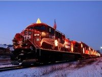 THe CP Holiday Train stops in Toronto this evening. Photo courtesy of Canadian Pacific Rail.