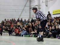 Due to the physical intensity, roller derby is heavily officiated. Numerous referrees are on duty during the bouts, while paramedics are also on site in case of serious injury.