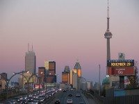 "This section of the Gardiner Expressway, known as ""Billboard Alley,"" may soon be home to three massive LED billboards. Photo by {a href=""http://www.flickr.com/photos/imuttoo/241144126/in/photostream/""}Ian{/a} from the {a href=""http://www.flickr.com/groups/torontoist/""}Torontoist Flickr Pool{/a}."