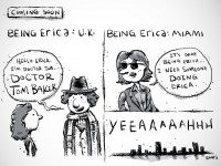In all honesty, we would definitely watch a Being Erica/Doctor Who crossover. Because that would be fantastic.