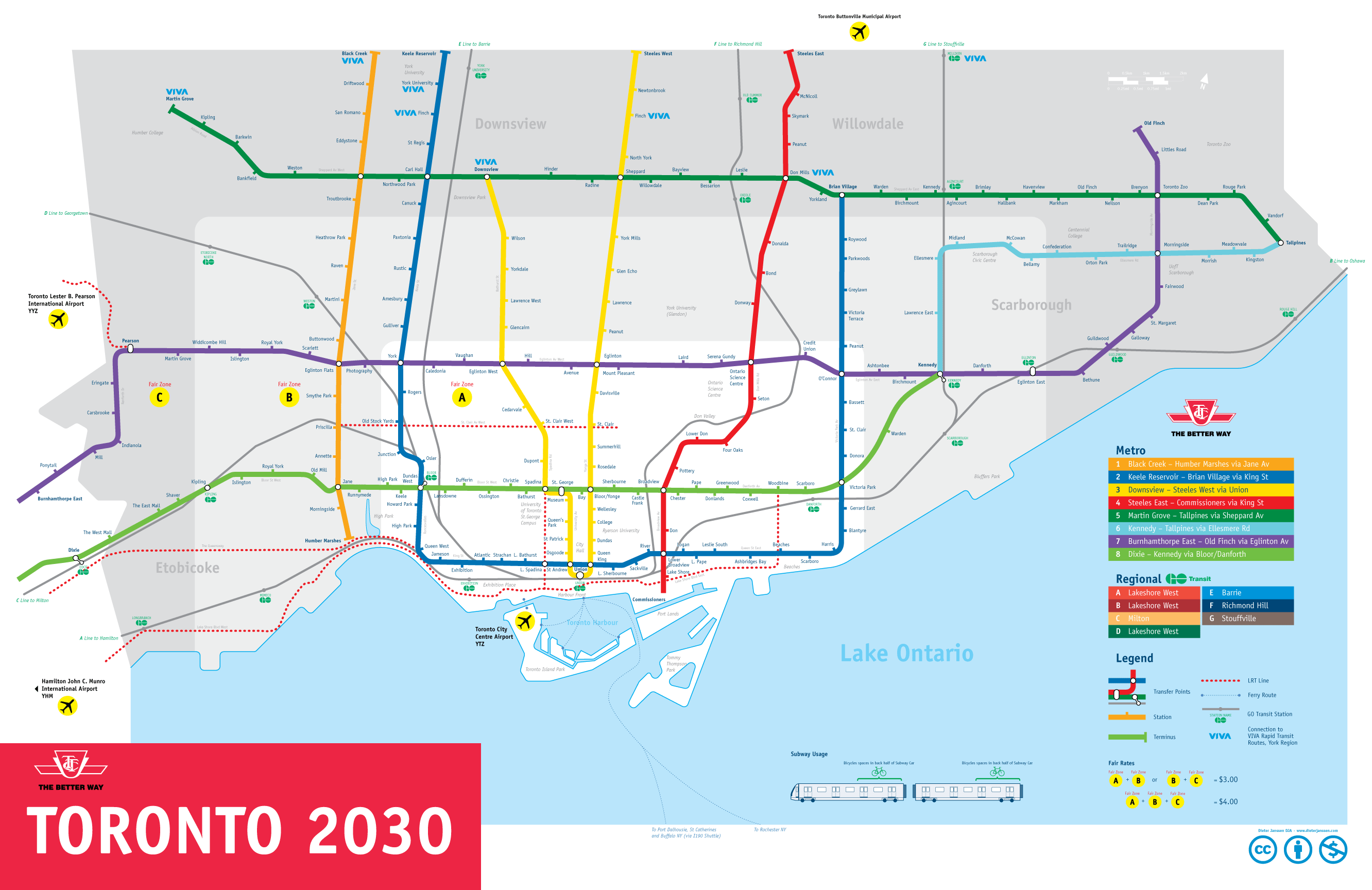 Map Toronto Subway System