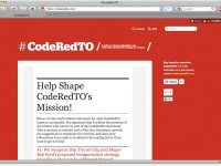 The newly launched CodeRedTO website.