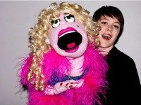 Avenue Q performer Kira Hall and Puppet 'Lucy T. Slut'. Photo by Seanna Kennedy Photography.