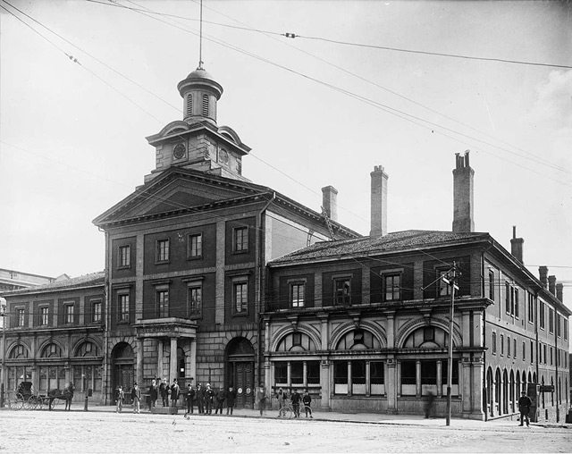 City Hall, Front Street East at Jarvis St., north elevation, 1895 (now the site of the south St. Lawrence Market). City of Toronto Archives, Fonds 1231, Item 98.