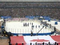 "The first NHL Winter Classic in 2008, held at Ralph Wilson Stadium in Orchard Park, NY. Photo by {a href=""http://www.flickr.com/photos/canyonero/2159451754/""}canyonero{/a}."