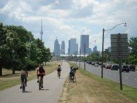 Riding along the Lakeshore Path near the Beaches. Photo from TOrebelXTguy